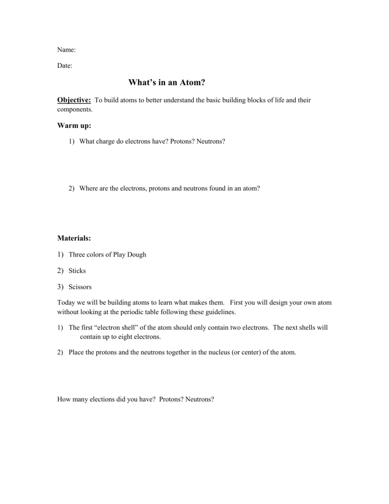 What Is An Atom Worksheet Electron Shell Diagram For Oxygen The Next Two Shells Can Hold 8
