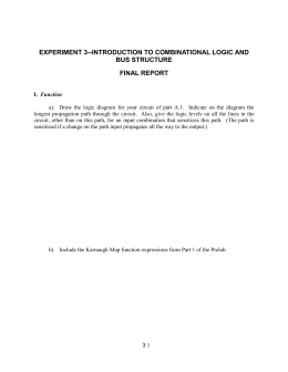 EXPERIMENT 4: INTRODUCTION TO COMBINATIONAL LOGIC