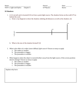 TEST C: Light and Optics Chapter 5 CP Physics Burns