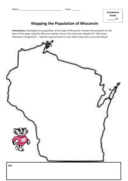 Mapping Wisconsin`s Population