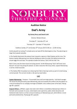 Audition Notice Dad`s Army