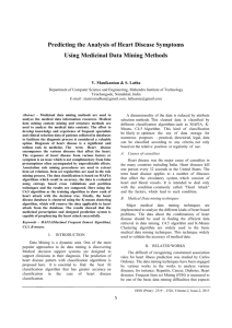 Major medical data mining techniques are implemented