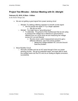 Meeting Minutes - University of Portland