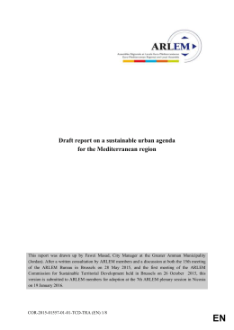 Draft Report on a sustainable urban agenda in the