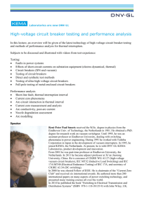 High-voltage circuit breaker testing and performance analysis In this