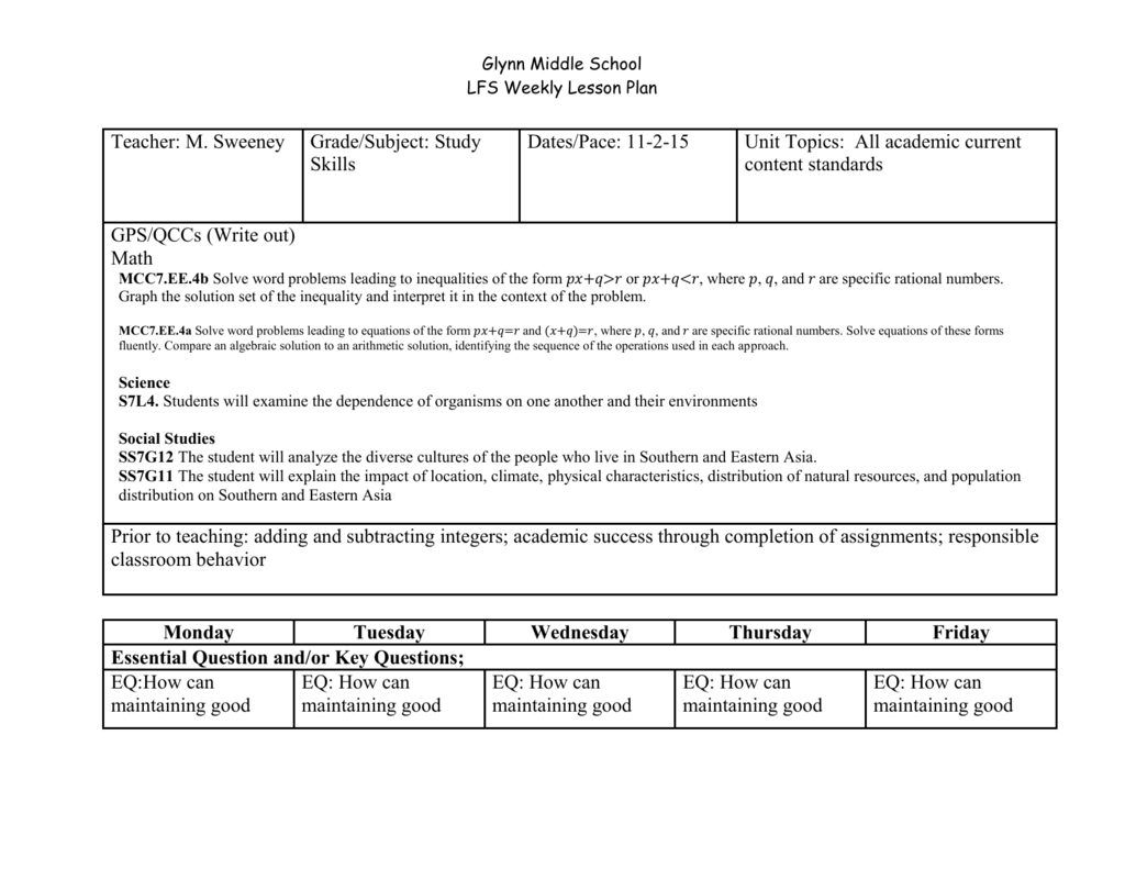 File study skills lesson plan 11-2