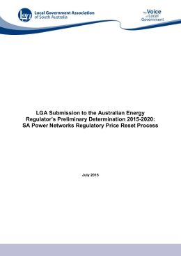 Australian Energy Regulator Preliminary Determination