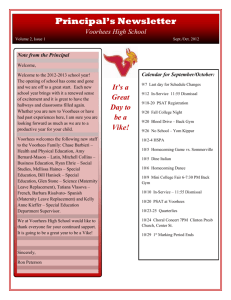 Principal`s Newsletter Voorhees High School