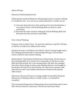 Glynis DeYong Elements of Reasoning Exercise Following the