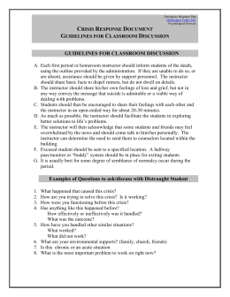 Guidelines For Class Discussion - Muskingum Valley Educational