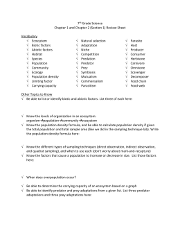 7AB Test 1 Review Sheet-Populations and Ecosystems