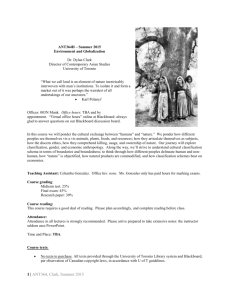 2015 Summer Syllabus - anthropology students` association