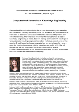 Prof. Setchi`s CV and Abstract