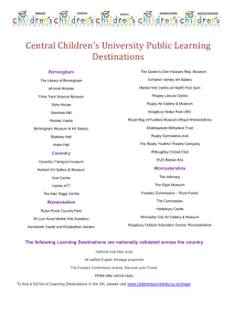 Public Learning Destinations by area