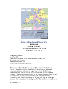 The Second World War - University of Florida