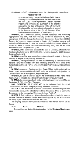On joint motion of all Councilmembers present, the following