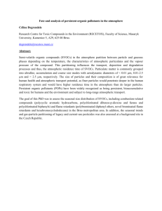 Fate and analysis of persistent organic pollutants in the atmosphere