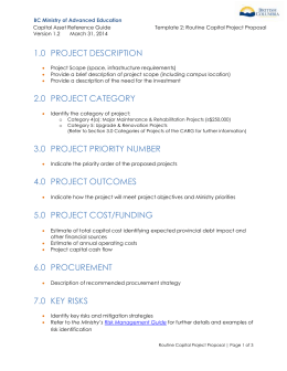 Template 2 - Routine Capital Project Proposal
