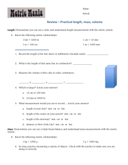 review sheet - Sayre School