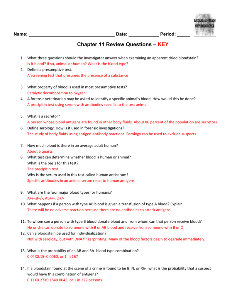 Chapter 11 Review Questions Key