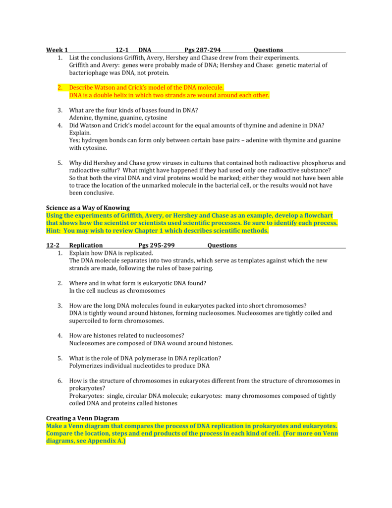Week 1 12 1 dna pgs 287 294 questions list the conclusions ccuart Image collections