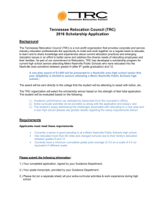 TRC Scholarship Instructions for Students 2016