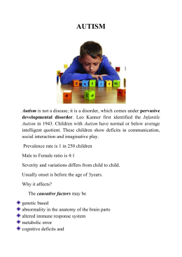 Autism - Family & Children Counseling Clinic