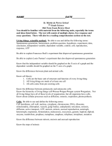 7th grade science mid-term review sheet