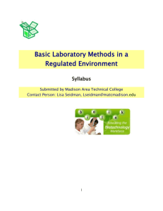 BASIC LABORATORY SKILLS IN A REGULATED - Bio-Link