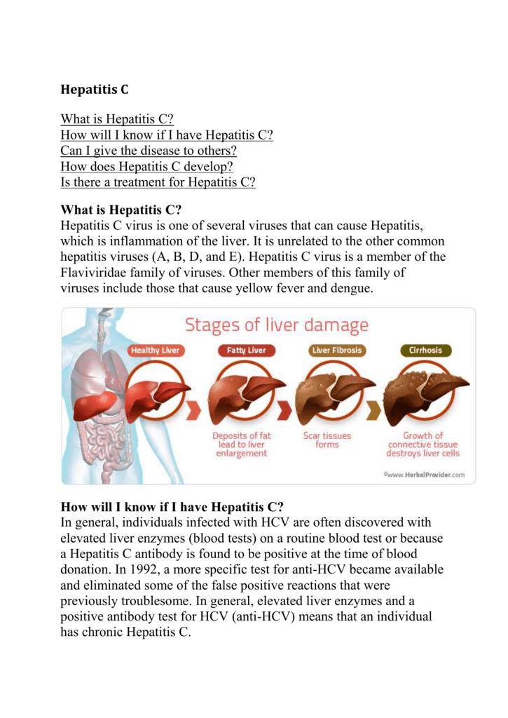 Hepatitis C Infection Symptoms