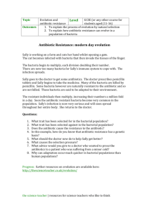 GCSE questions on the evolution of antibiotic resistance