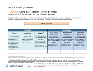 TOOL 12: Putting it All Together – The Logic Model