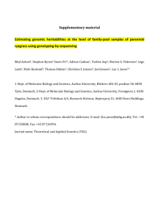 Supplementary material Estimating genomic heritabilities at the level