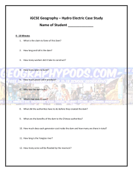 worksheet to record video notes