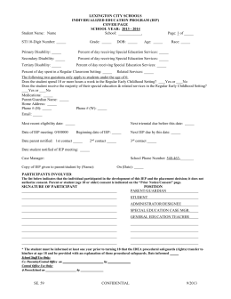 sample iep - vi - Hart County Schools