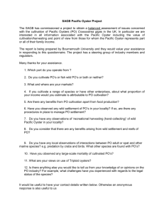 Draft questionnaire for distribution to industry members