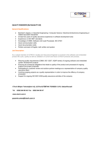 QUALTY ENGINEER (Ref:QUALITY-02) General Qualifications