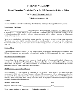 Stop N Shop Permission Form