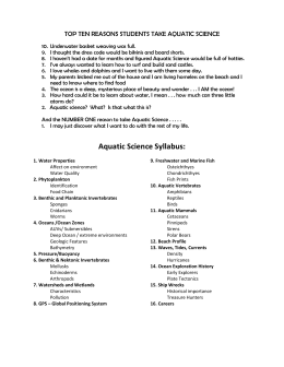 Aquatic Science Syllabus