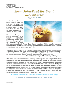Saint John Paul the Great His Five Loves By Jason Evert