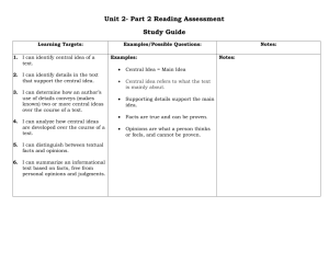 Unit 2- Part 2 Reading Assessment Study Guide