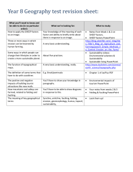Year 8 Geography test revision sheet