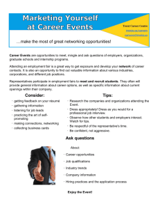 Marketing Yourself at Career Events