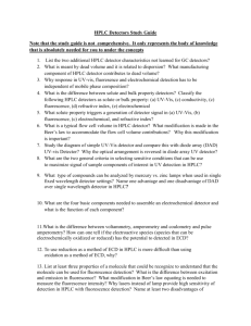 HPLC Detectors Study Guide Note that the study guide is not