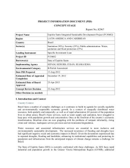 PROJECT INFORMATION DOCUMENT (PID) CONCEPT STAGE