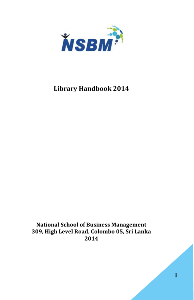 Nsbm Library National School Of Business Management