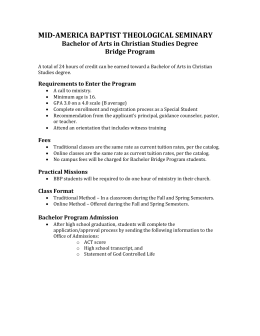 Bachelor Bridge Program Requirements - Mid