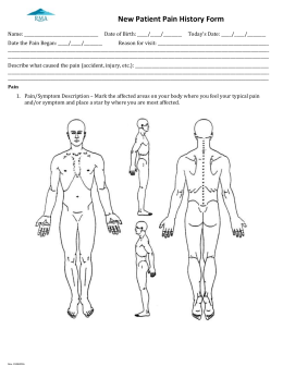 2015 Pain Health History Intake Form