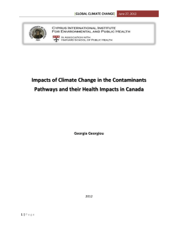 Impacts of Climate Change in the Contaminants Pathways and their