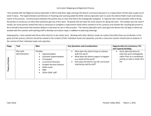 Model Curriculum Map Resource Literacy